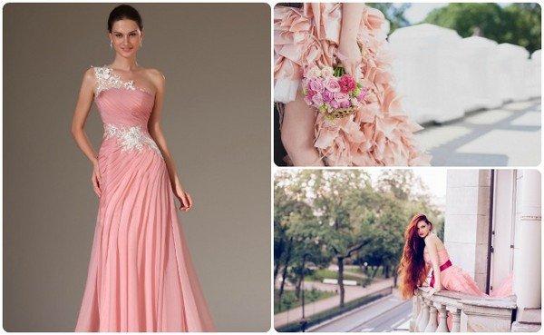 4aa3605f418 Какое розовое свадебное платье выбрать невесте  фото красивых ...