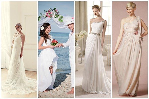 Также в последнее время становится популярным украшать греческое платье  прозрачными бантами 64d925b7bf74b