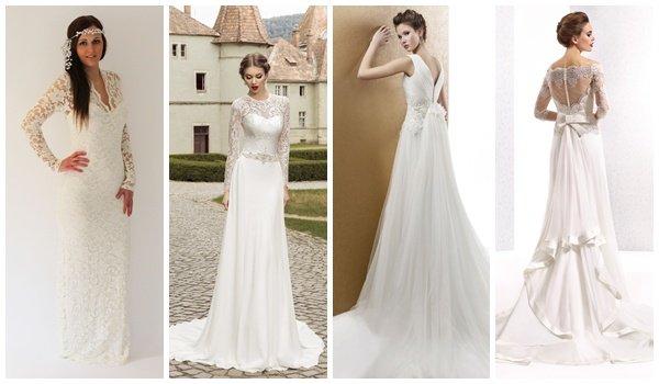 237e6f1c44a Свадебные платья прямого силуэта  особенности наряда