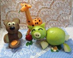 Вкусные фигурки: поделки из овощей и фруктов для школы и детского сада