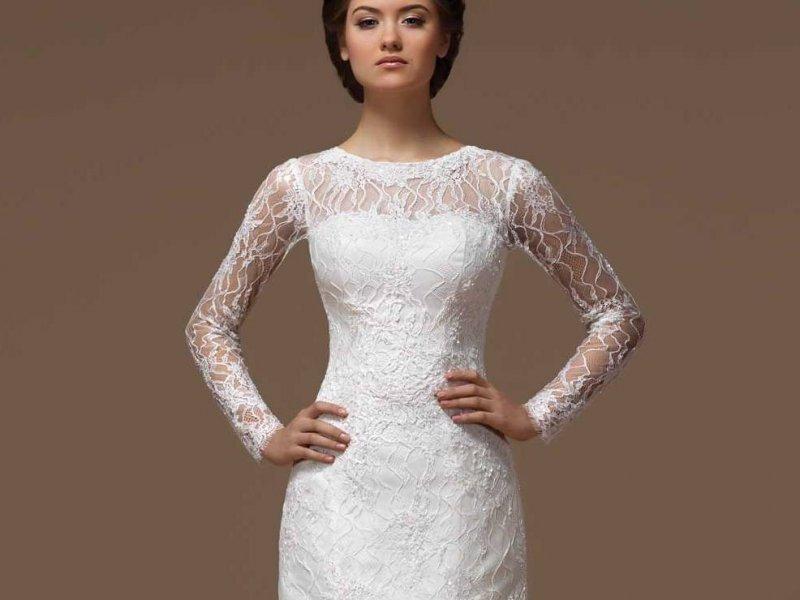 dc65a7db74c5bc8 Свадебное платье с рукавами: фото платьев для невесты с рукавами из ...