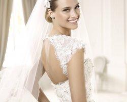 Аристократический шарм: свадебные платья с открытой спиной