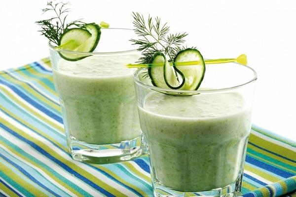 Кефир с огурцом и зеленью для похудения: отзывы и рецепты.