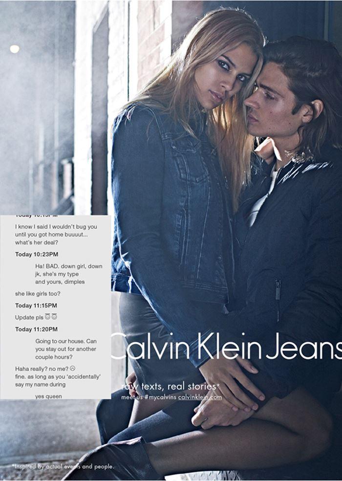 Пикантная переписка в новом кампейне Calvin Klein