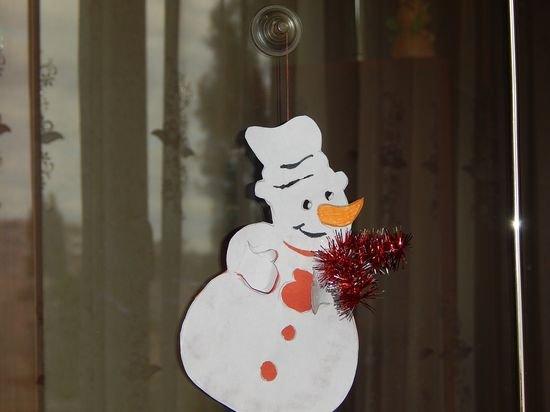 Как сделать снеговика из картона фото 75