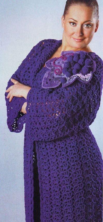 модное вязание для полных женщин спицами и крючком фото и схемы