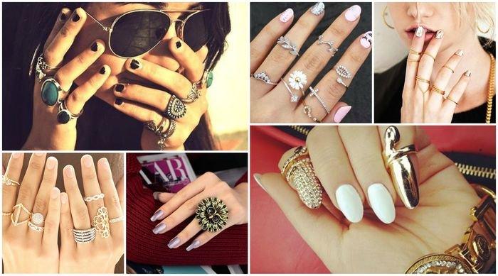 Как носить кольца на руках модно и стильно