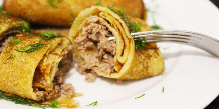 Фаршированные блины, вкусное блюдо для ежедневного рациона и праздничного стола, рецепты с фото