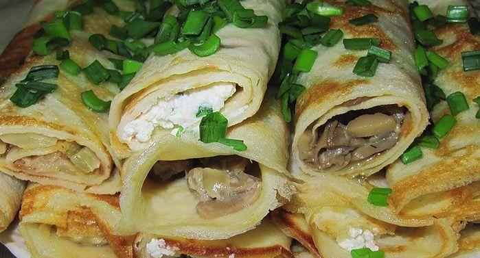 Вкусное блюдо для повседневного меню - блины с капустой, рецепты с фото