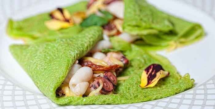 Креативная идея для домашней выпечки - зеленые блины, рецепты с фото