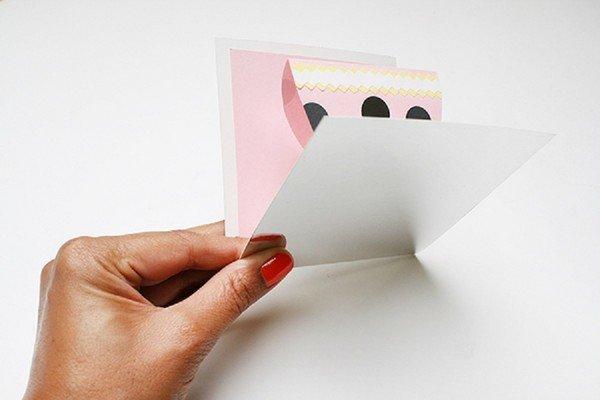 Картинки, как аккуратно согнуть открытку