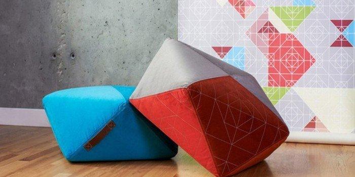 Геометрия цвета: коллекция пуфов AMAI & NBGZ