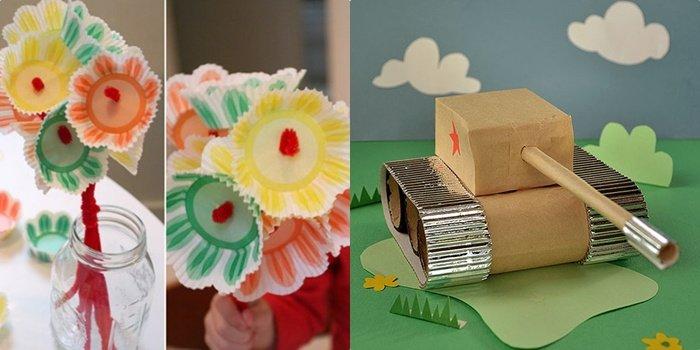 Поделки к празднику 9 мая в детском саду для младших и старших групп