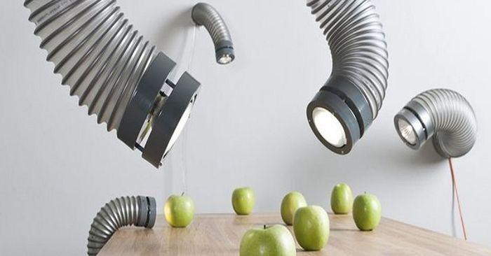 Индустриальная эстетика: «вентиляционные» светильники Throat