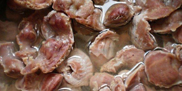Рецепт приготовления куриных желудков в мультиварке
