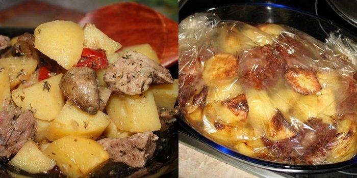 Свинина с картошкой в рукаве – жаркое на все случаи жизни!
