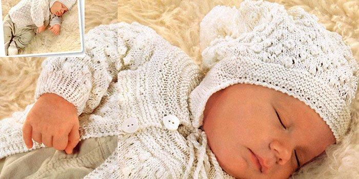 Вяжем для новорожденного спицами - комплект своими руками