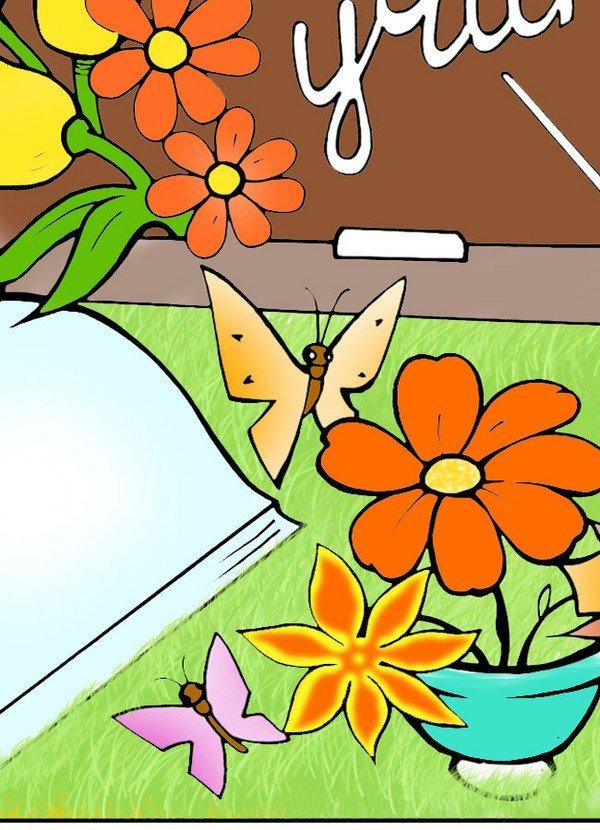 открытка ко дню учителя рисунок легкий номер своего цвета