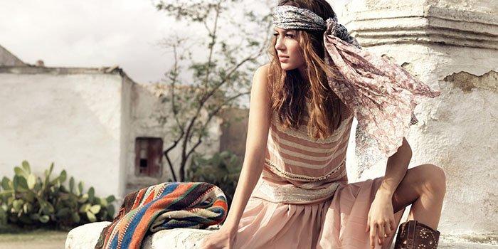 Выкройка туники и платья в стиле бохо