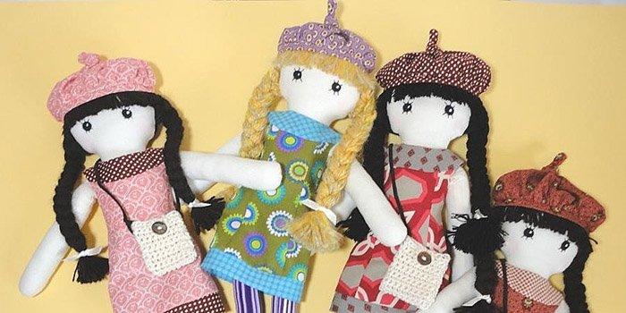 Выкройки авторских текстильных кукол
