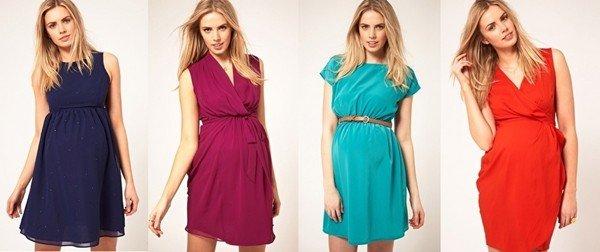 6e9030f42552 Тем не менее, можно встретить поклонниц скромных и достаточно современных  платьев для беременных, длинных и коротких.