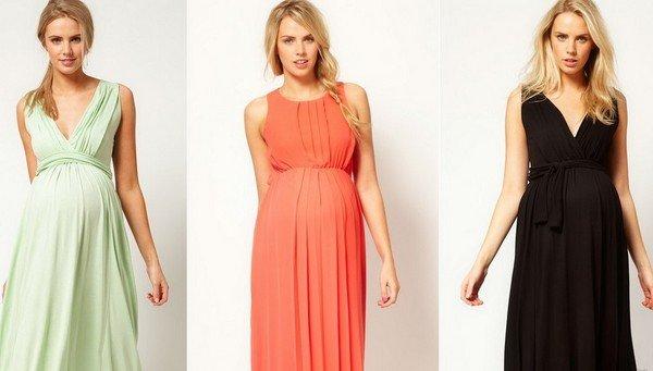 c07172bfcf5885b Тем не менее, можно встретить поклонниц скромных и достаточно современных  платьев для беременных, длинных и коротких.