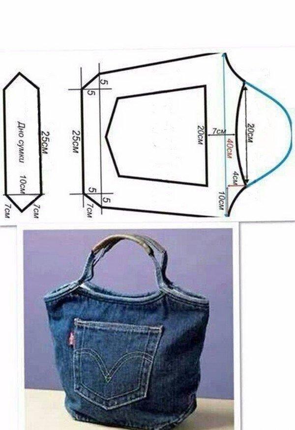 7150398a991f Модели сумок из старых джинсов своими руками с выкройкой. Дизайнерскими  идеями, как сшить сумку из джинсовой ...