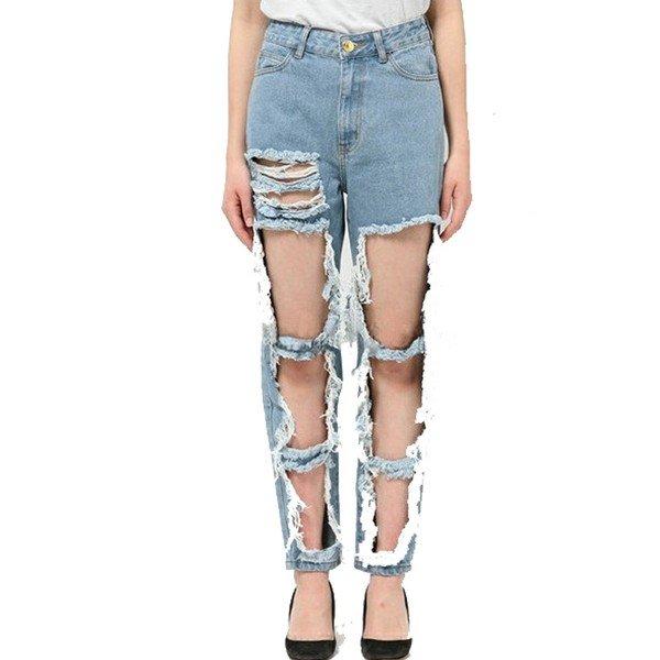 как делают рваные джинсы