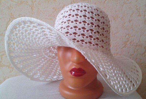 Вязание крючком шляпа с полями схема фото 865