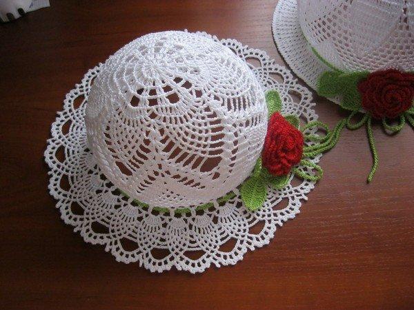 шляпка крючком женская и для девочки описание видео схема шляп и