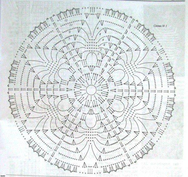 шапочка крючком для девочки на весну осень схема крючком описание