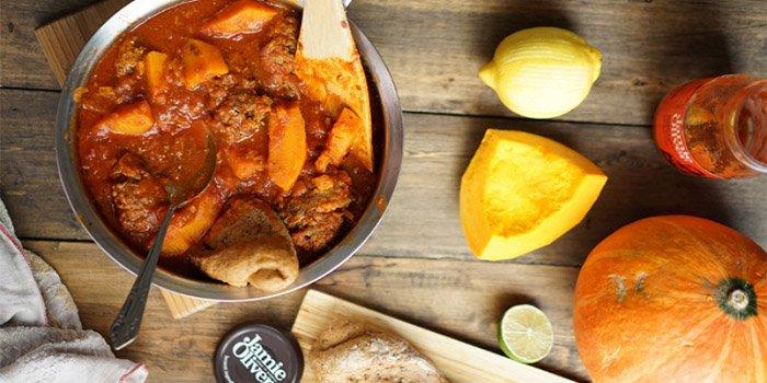Оригинальный рецепт: тефтели в тыквенном соусе