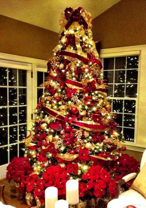 преподавали украшение елки в красно золотом цвете фото было несчастий