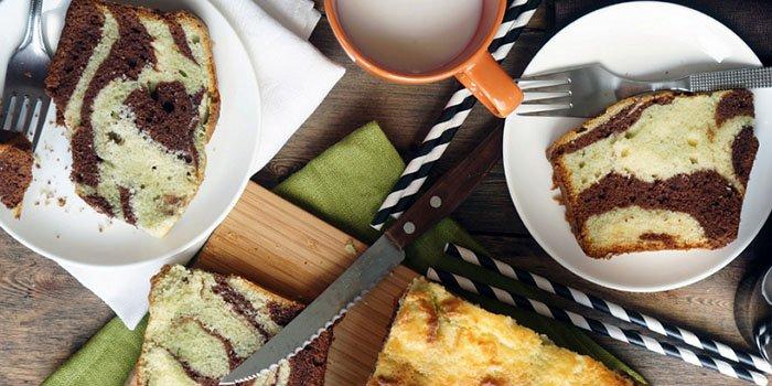 Аппетитный рецепт к чаю: трехцветный воздушный кекс