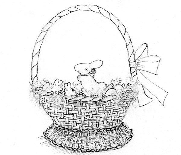 Рисунок на Пасху для детей в школу, детский сад поэтапно ...