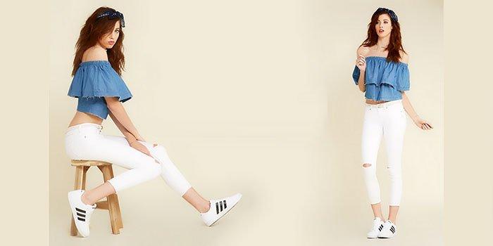 Белые джинсы – стильный весенний тренд-2017