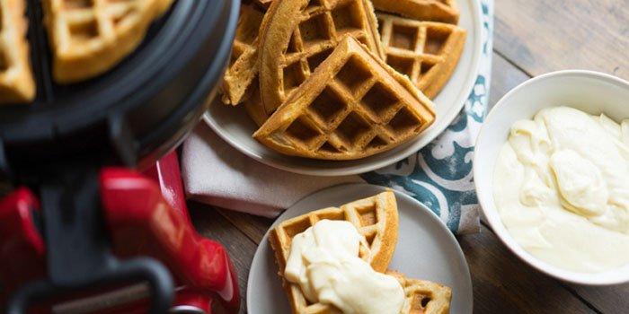 Рецепт домашних вафель с заварным кремом