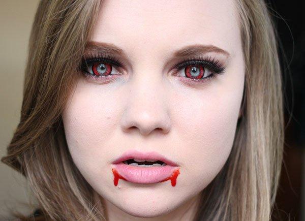 Как сделать грим вампира 846
