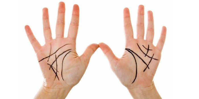 Что значат на руке буквы Л и М: Уроки хиромантии