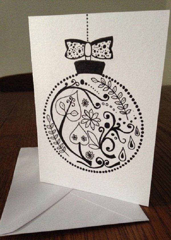 Смешные, новогодние открытки рисуем своими руками