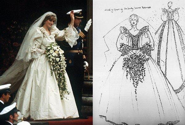 8611c11e621 Создание платья с самого начала было окутано завесой тайны. Многие из  окружения принцессы были удивлены