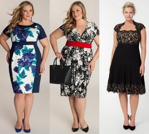 10e41895820 В 2017 году модельеры и дизайнеры предлагают полным женщинам широкий выбор  моделей одежды. Расклешенная юбка