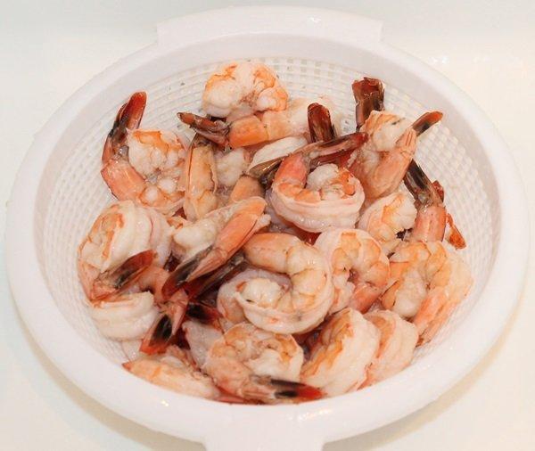 Салат креветки королевские замороженные неочищенные