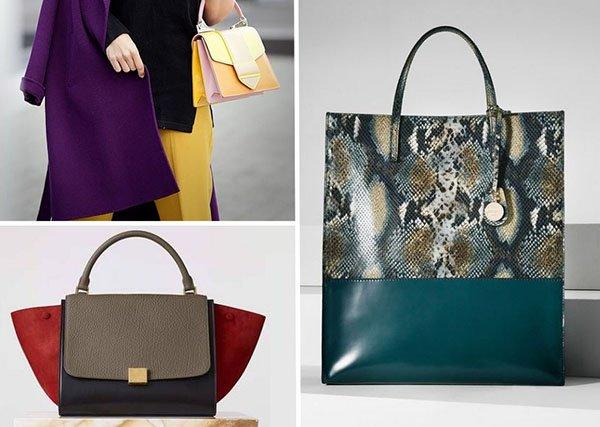 ac4e19a54a1a Проанализируйте собственный гардероб: если он состоит из вещей неброских  оттенков, сумки с контрастными вставками – то, что вам нужно.