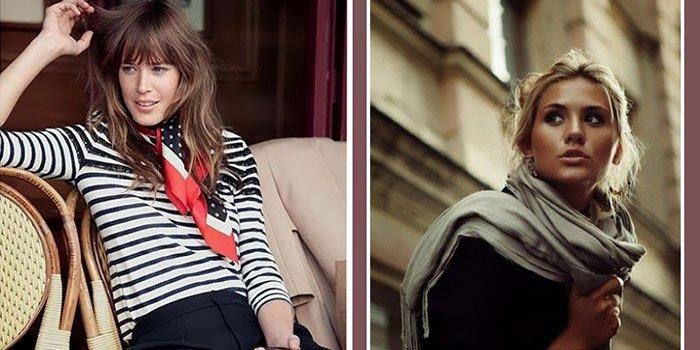 Как носить шарф в парижском стиле: 4 важных секрета