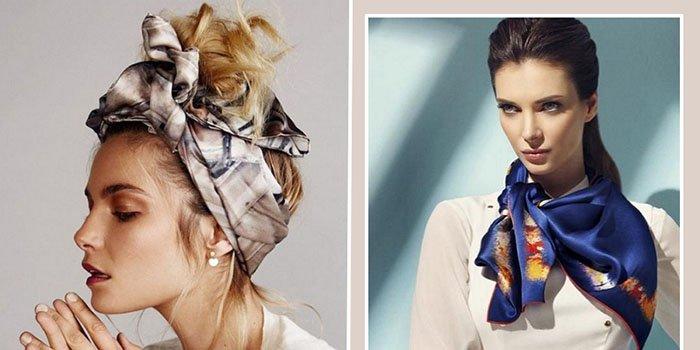 Будь в тренде: 5 стильных способов носить шелковый платок