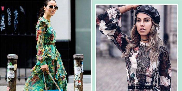 Как носить платье с цветочным узором и не выглядеть старомодно
