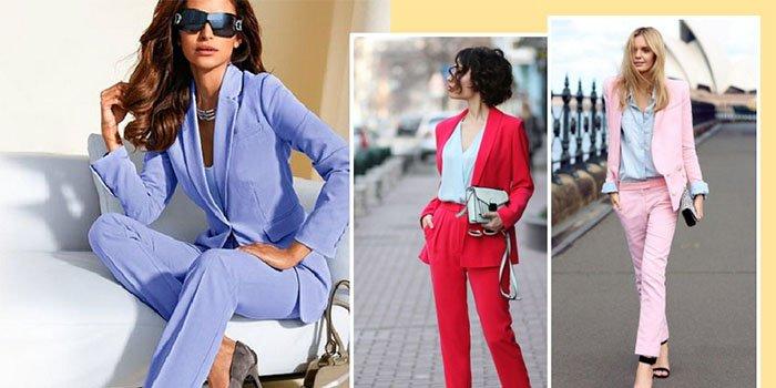Цветной костюм – тренд 2018: как выглядеть в нем идеально