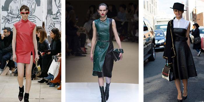 Офисные платья из кожи, в которых легко стать иконой стиля