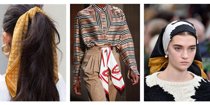 Как завязать шелковый платок? Новый hair-тренд из Милана